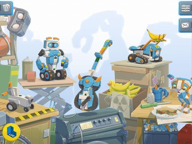 レゴブーストのアプリ画面
